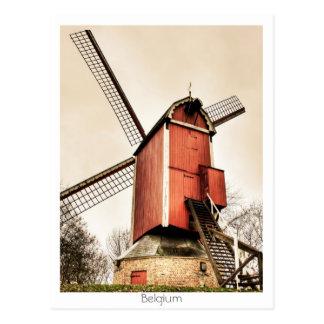 Moulins à vent belges carte postale