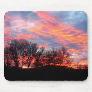 Mousepad - beau lever de soleil d'hiver tapis de souris