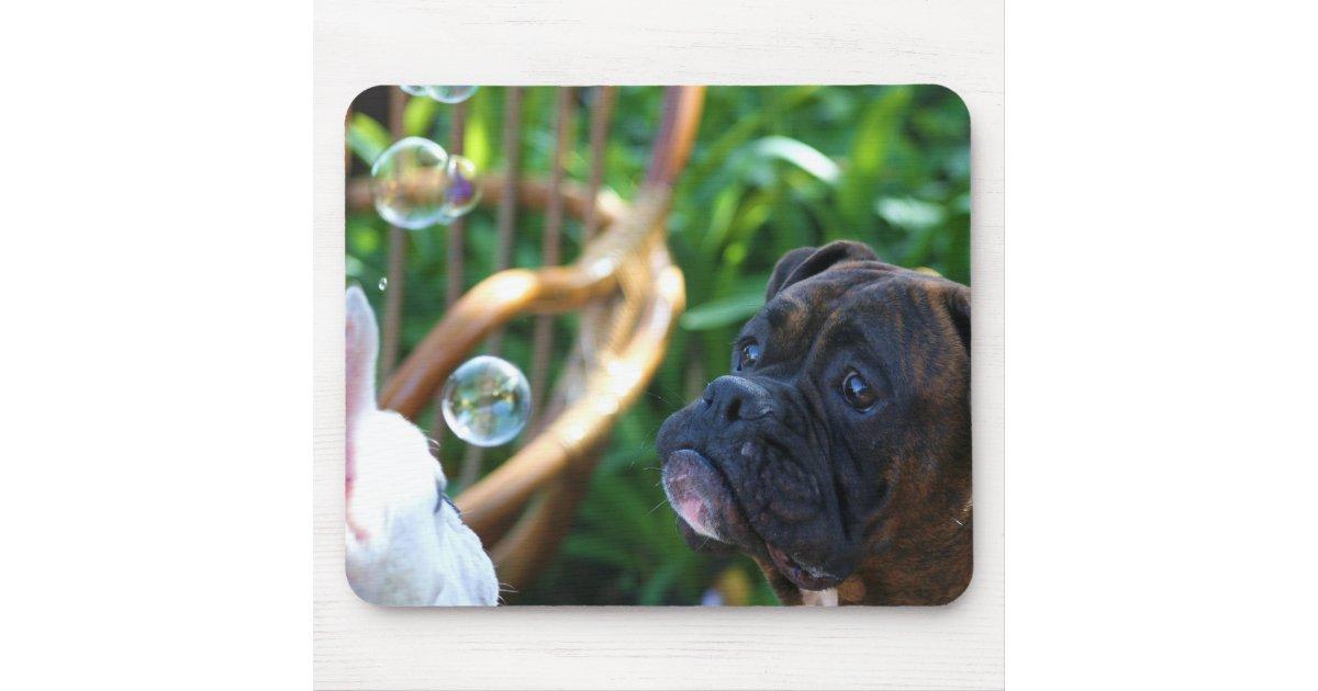 Mousepad de chiens et de bulles de boxeur tapis de souris for Surface minimum bureau code du travail