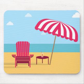 Mousepad de plage de chaise d'été tapis de souris