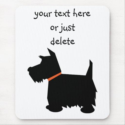 Mousepad de silhouette de noir de chien de terrier tapis for Surface minimum bureau code du travail
