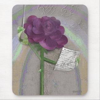 Mousepad rose de musique de Rosegifts Tapis De Souris