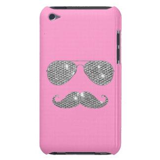 Moustache drôle de diamant avec des verres coque barely there iPod