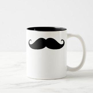 Moustache ! mug bicolore