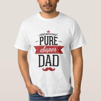 Moustache superbe pure de papa rouge et noire t shirt