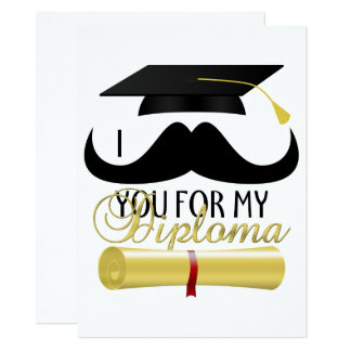 Moustache vous pour mon invitation d'obtention du