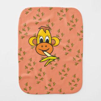 mouth swab : le singe caressant avec les bananes linge de bébé