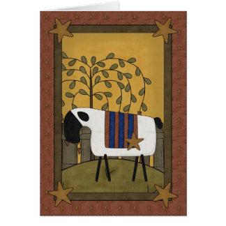Moutons de fête des pères carte de vœux