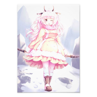 Moutons de neige de Loli Impression Photo
