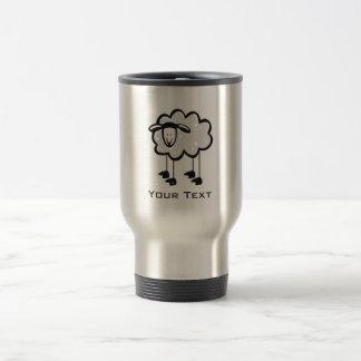 Moutons ; métal-regard mug de voyage
