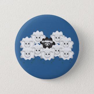 Moutons noirs mignons de la famille badge rond 5 cm