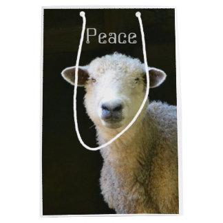 Moutons paisibles sac cadeau moyen