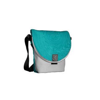 Mouvement giratoire de turquoise - sac messenger besaces