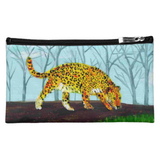 Moyenne Trousse De Maquillage Art de grand chat de Jaguar