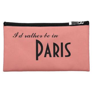Moyenne Trousse De Maquillage Français rose de Paris je serais plutôt à Paris