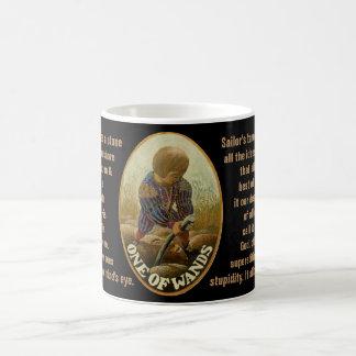 Mug 01. Une de baguettes magiques - tarot de marin