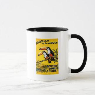 Mug 1000 milles vers le haut de l'affiche vintage de