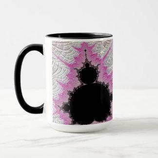 Mug 108-08 Mandy noire dans le domaine rose métallique
