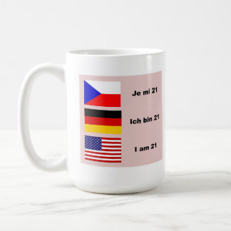 Mug 21 dans 3 langues