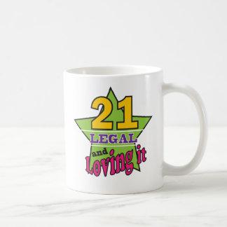 Mug 21 juridique et l'aimant - 21ème anniversaire