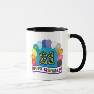 Mug 21ème Cadeaux d'anniversaire avec la conception