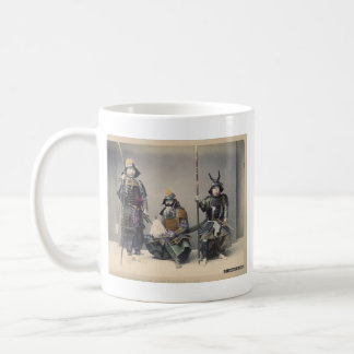 Mug 3 samouraïs en photo de cru d'armure