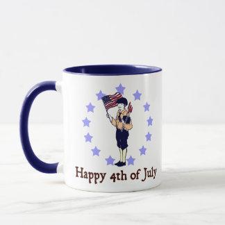 Mug 4 juillet art vintage heureux