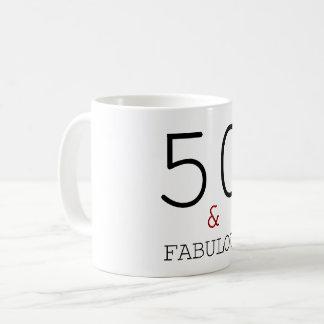 Mug 50 et cinquantième cadeau d'anniversaire élégant