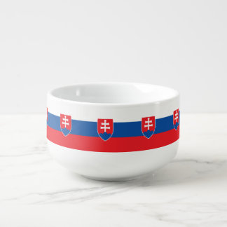Mug À Soupe Drapeau de la Slovaquie
