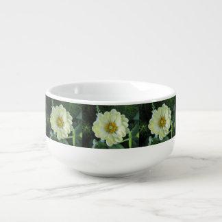 Mug À Soupe Fleur jaune-clair de dahlia
