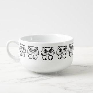 Mug À Soupe Grand jeter un coup d'oeil observé mignon de chat