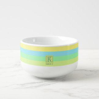 Mug À Soupe La palette de couleurs de chaux d'océan d'été