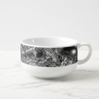 Mug À Soupe Motif PUR d'abrégé sur ARGENT + votre texte