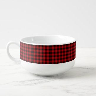 Mug À Soupe plaid rouge de bûcheron de buffle de Noël de
