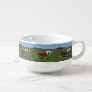 Mug À Soupe Vaches dans le pâturage