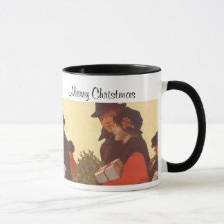 Mug Achats vintages de cadeau de Noël, d'homme et de