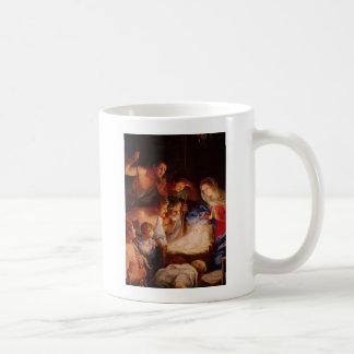 Mug Adoration-de-bébé-Jésus-par-bergers-reni