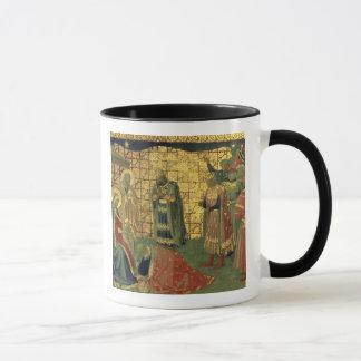 Mug Adoration des Magi, détail d'un carreau de