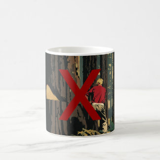 Mug Affaires vintages, anti industrie de bois de