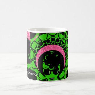 Mug Afro vert d'écharpe de rose de visage