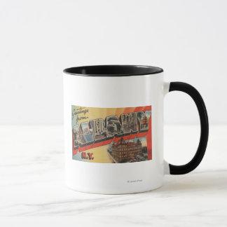 Mug Albany, New York - grandes scènes 2 de lettre