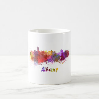 Mug Albany skyline in watercolor