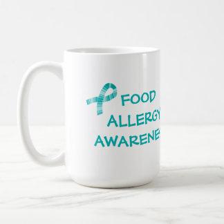 Mug Allergie alimentaire turquoise Teal de ruban et