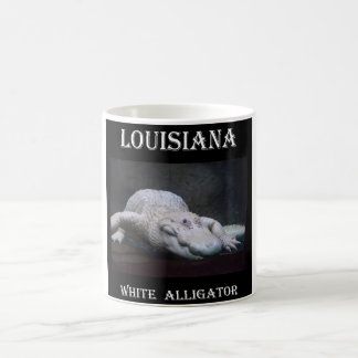 Mug Alligator blanc de la Louisiane nouveau