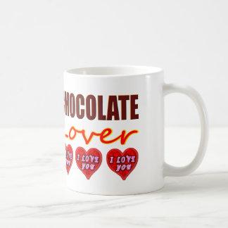 Mug Amant de chocolat avec je t'aime des chocolats