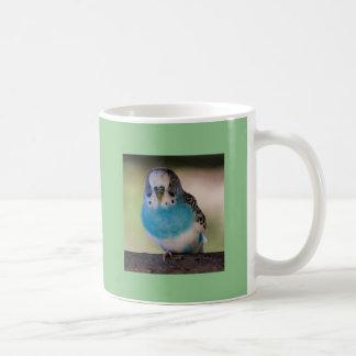 Mug Amants blancs classiques bleus de perroquet de