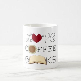 Mug Amour, café, livres