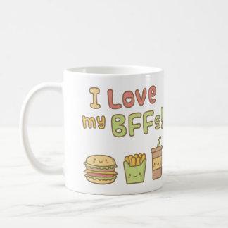 Mug Amour de Kawaii I mon griffonnage de nourriture de