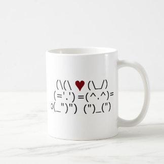 Mug Amour de lapin d'ASCII