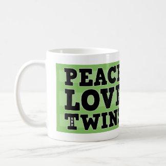 Mug Amour et jumeaux de paix
